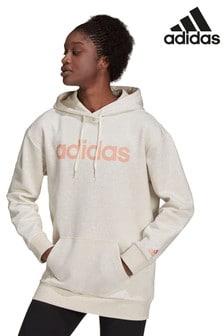 adidas Oversized Long Line Linear Hoodie