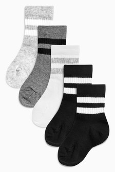 Sports Socks Five Pack (Younger)