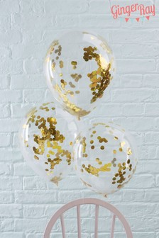 5 Pack Ginger Ray Confetti Balloons