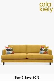Orla Kiely Willow Large Sofa with Walnut Feet