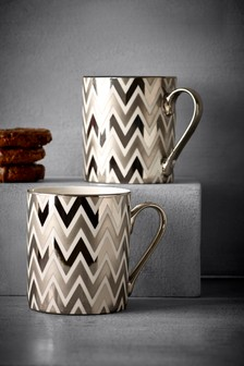 Set of 2 Zig Zag Mugs