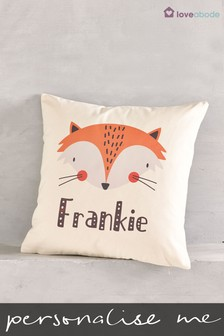 Personalised Fox Cushion By Loveabode