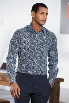 Floral Printed Regular Fit Shirt