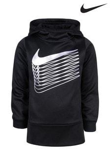 Nike Little Kids Black Therma Hoody