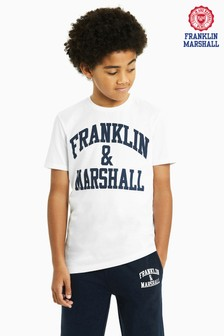 Franklin & Marshall White Logo Tee