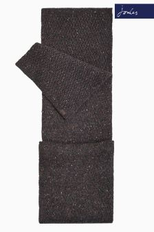 Joules Dark Brown Knitted Blyth Scarf