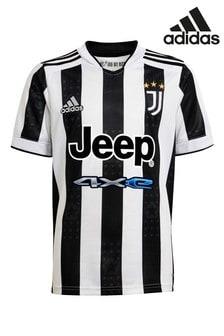 adidas Juventus 21/22 Home Kids Football Shirt