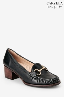 Черные лоферы на каблуке Carvela Amy