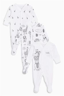 Sleepsuits Three Pack (0mths-2yrs)