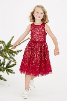 Sequin Embelished Dress (3-16yrs)