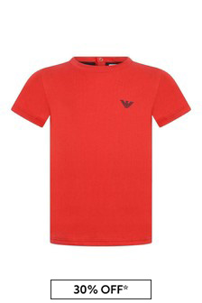 Baby Boys Red Cotton Top