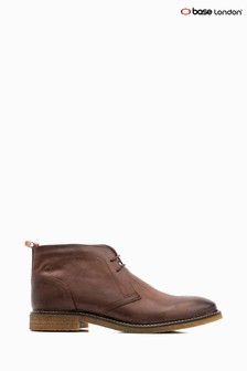 Base London® Brown Lawson Lace-Up Chukka Boots