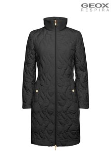 Geox Women's Ascythia Black Long Jacket