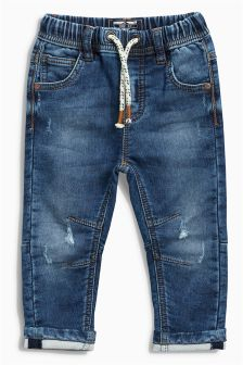 Jersey Denim Pull-On Jeans (3mths-6yrs)
