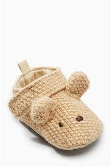 Cosy Knit Character Pram Shoes (Younger)