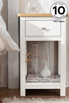 Hampton Country Luxe Slim 1 Drawer Bedside Table