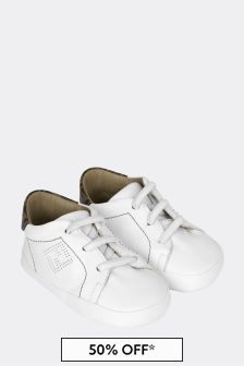 Baby Beige Leather Trainers