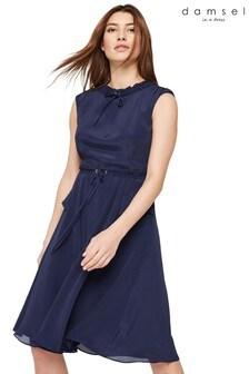 Damsel In A Dress Blue Verdi Drawstring Dress
