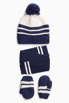 Hat, Gloves And Scarf Set (Younger)