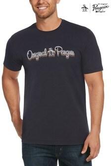 Original Penguin® Blue 3D Script Logo T-Shirt