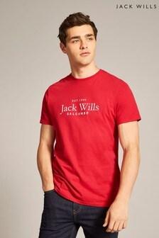 Jack Wills Red Ormond Graphic T-Shirt