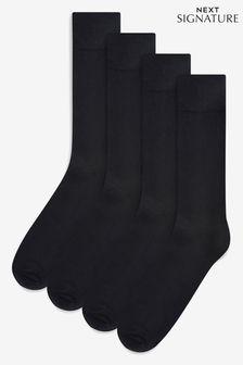 Lot de quatre paires de chaussettes Bamboo noires