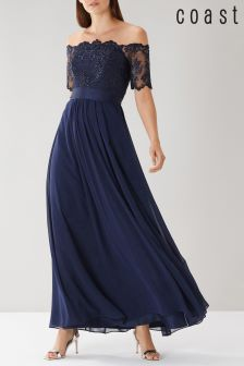 Coast Blue Maddie Embroidered Maxi Dress