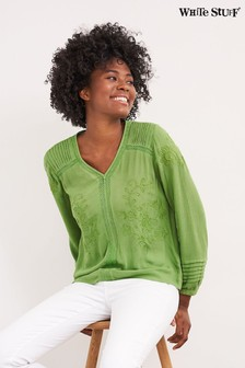 White Stuff Green Loren Top