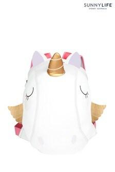 Sunnylife White Unicorn Rainbow Large Backpack