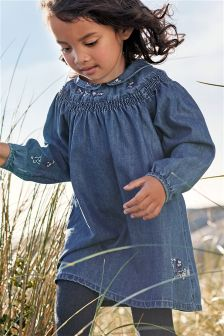 Embroidered Collar Dress (3mths-6yrs)