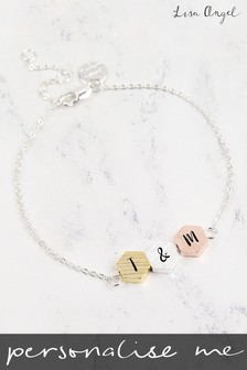 Personalised Hexagonal Bracelet by Lisa Angel