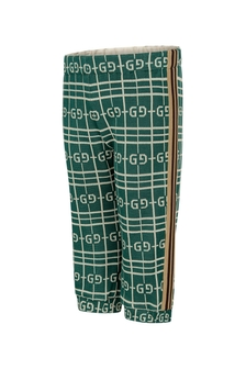 GUCCI Kids Baby Boys Green Cotton Joggers