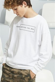 Think Outside The Box Long Sleeve Top (3-16yrs)