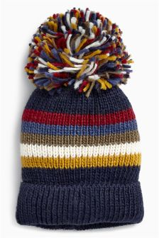 Stripe Retro Pom Hat (Older)