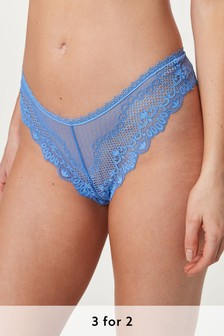 Microfibre And Lace Knickers