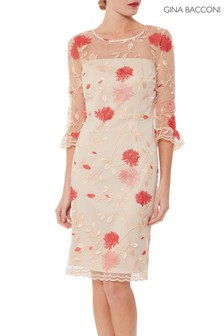 Gina Bacconi Pink Annie Embroidered Dress