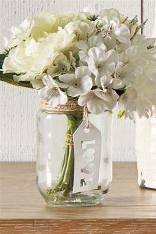 Floral Tag Jar