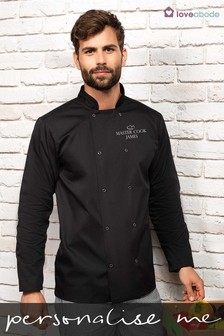 Personalised Chef Jacket Black by Loveabode
