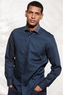 Фактурная рубашка обычного кроя с контрастным воротником