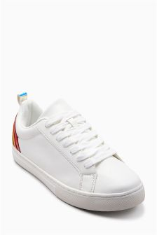 Rainbow Lace-Up Trainers (Older)