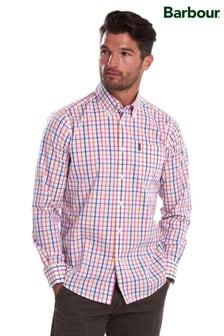 Barbour® Orange Tattersall Tailored Shirt