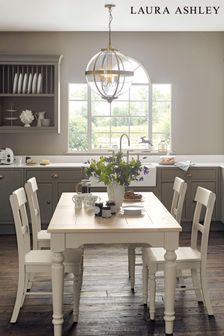 Dorset White Extending Dining Table by Laura Ashley
