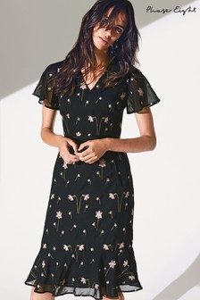 Phase Eight Black Savanna Embroidered Dress