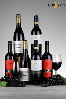 Set of 6 Le Bon Vin World Shiraz Red Wine Selection
