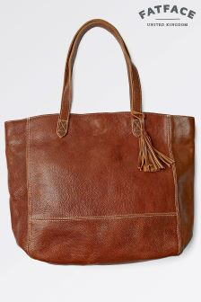 FatFace Chestnut Large Tassle Tote Bag