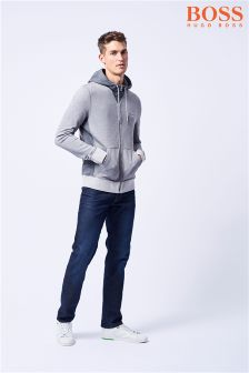 BOSS Grey Zeroes Zip Through Hoody