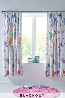Rainbow Mermaid Blackout Pencil Pleat Curtains