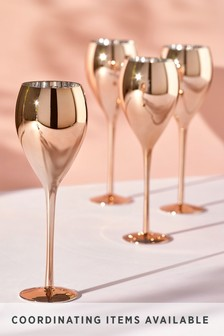 Rosa Metallic Set of 4 White Wine Glasses