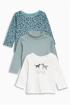 Dog Embellished T-Shirts Three Pack (3-6yrs)