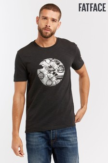 FatFace Grey Circle Bicycle Graphic Tee